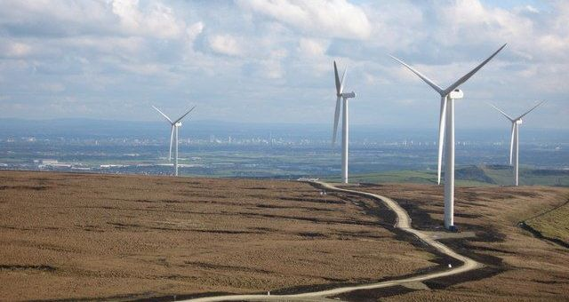 wind farm on moors