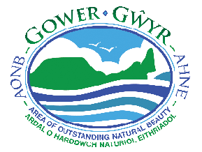 Gower Beach Guide AONB logo