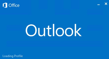 outlook loading profile window