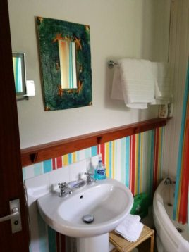 The bathroom at The Bower self-catering, Rhossili
