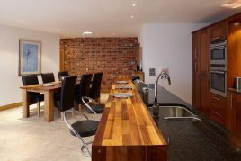 The kitchen in Oriel Gwyr, Rhossili, Gower