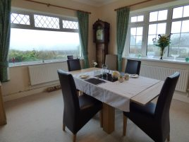 The dining room at White Stile bed and breakfast, Knelston, Gower Peninsula