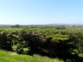 The view towards Port Eynon and Rhossili from White Stile bed and breakfast, Knelston, Gower