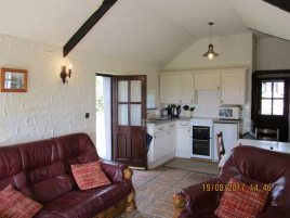 The living area in Creek Cottage, Rhossili
