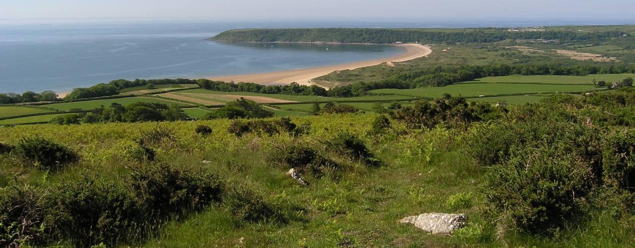Oxwich Bay from Cefn Bryn, Gower