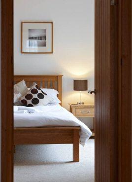 A bedroom at Oriel Gwyr, Rhossili, Gower