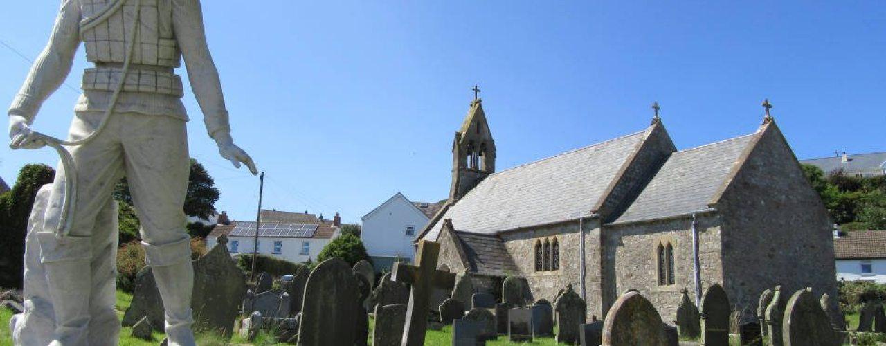 St Cattwg's Church, Port Eynon, Gower Peninsula, Swansea
