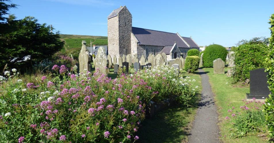 St Mary's Church Rhossili, Gower Peninsula, Swansea