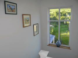 The stair window at Sunnyside self-catering accommodation, Rhossili, Gower