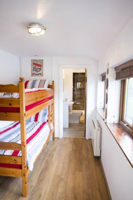 The bunkroom at The Bower Cottage self-catering cottage, Port Eynon, Gower