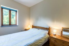 The double bedroom at The Barn holiday cottage, Llethryd, Gower
