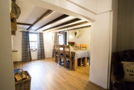 The dining room at The Bower Cottage self-catering cottage, Port Eynon, Gower