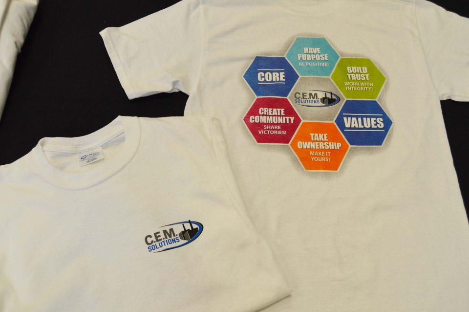 C.E.M. Solutions Shirts done by BS Publications