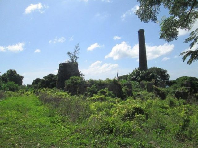 St.Kitts The sugar mill ruins. Photo by Victor Block