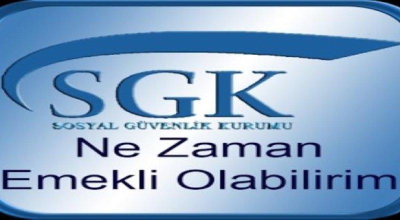 SGK Girişe Göre Emekli Olma Yılları