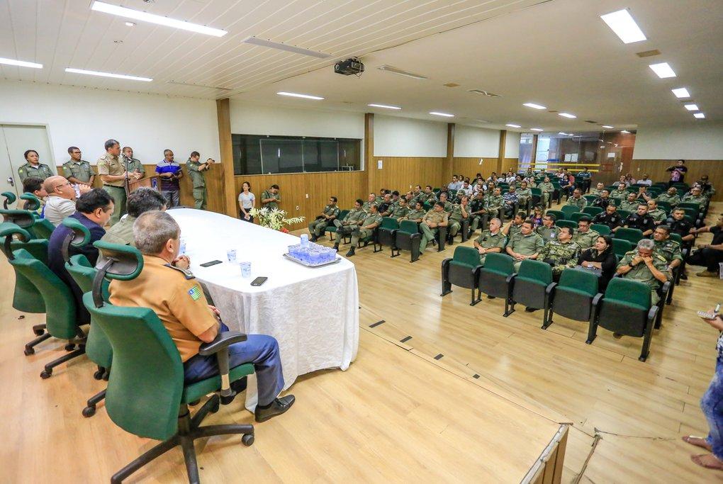Solenidade de lançamento do edital da PM do Piauí