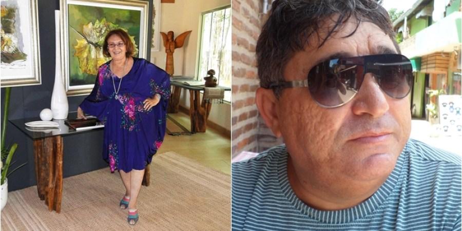 Artista plásctica, Dora Parentes e o contador Edson Albuquerque