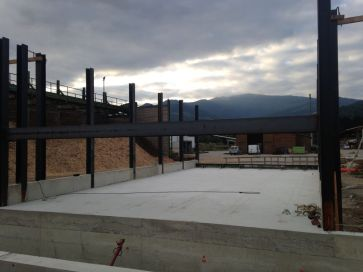 Construction du stockage