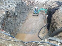 Terrassement de la fosse