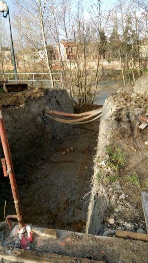 Chenal de dévalaison creusé