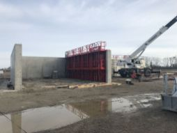Construction des zones de stockage