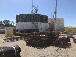 Deuxième silo en construction