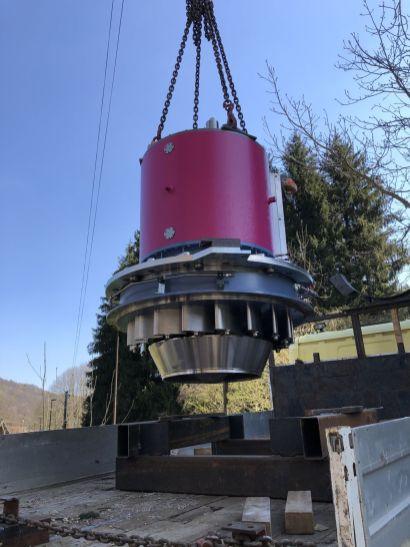 Pose de la turbine