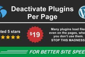 Deactivate Plugins Per Page 1.11.0