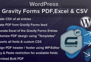 Gravity Forms PDF, Excel & CSV 1.4.1