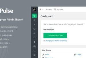 Pulse 1.1.2 – WordPress Admin Theme