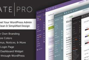 Slate Pro 1.1.9 – Admin Theme & White Label