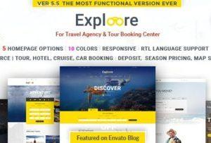 Exploore 5.8 – Tour Travel WordPress Theme