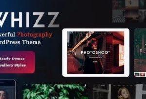 WHIZZ Photography WordPress Theme 2.2.6