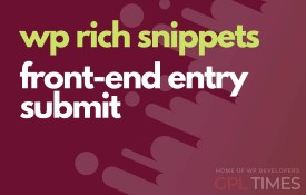 wprich snippets front end entry submit