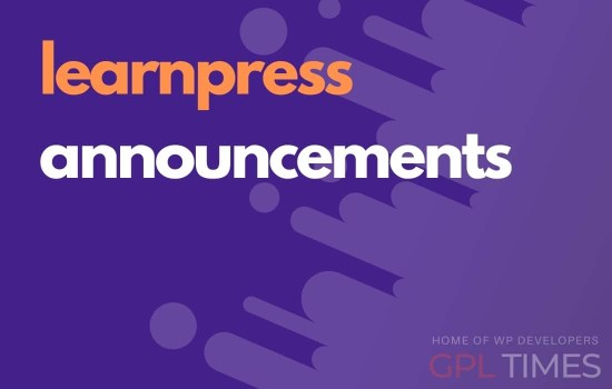 learn press announcements