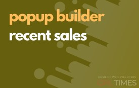 popup build recent sales