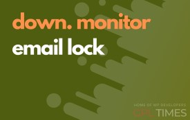 down monitor email lock