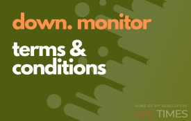 down monitor terms condition