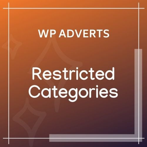 wpadverts Restricted Categories
