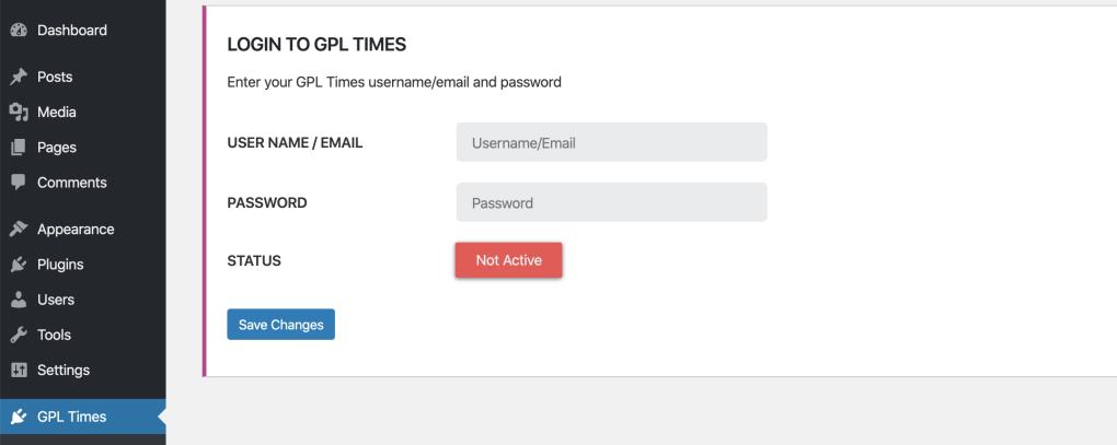 gpl not logged