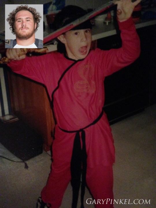 Mizzou Center Evan Boehm was a fierce ninja for Halloween in Lee's Summit, Missouri.