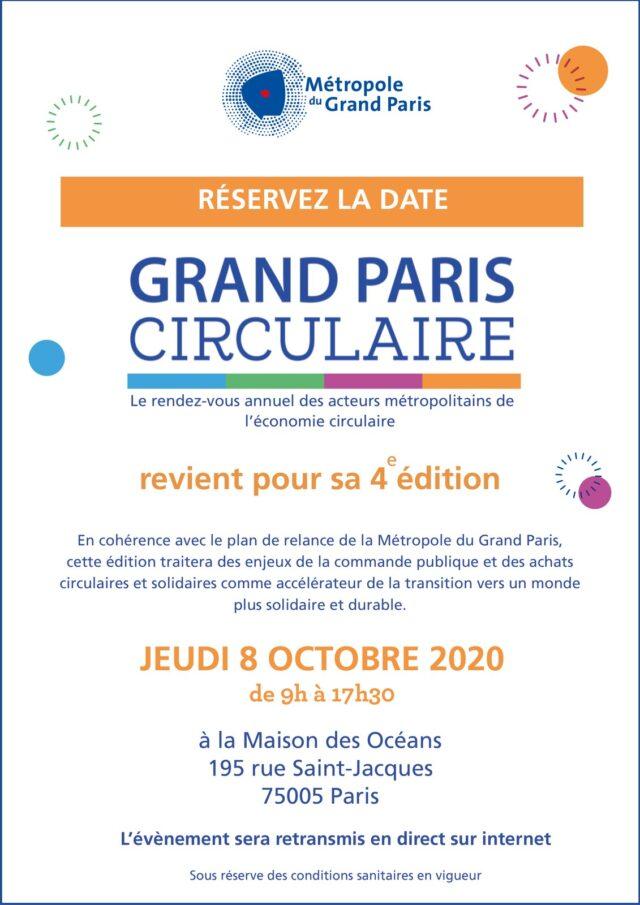 Affiche 4e édition du Grand Paris circulaire