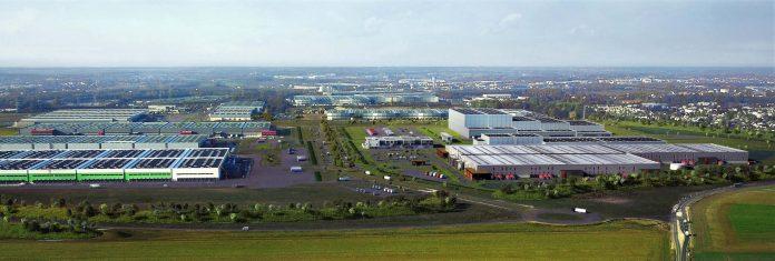 Vue aérienne du parc d'activités A5 Sénart