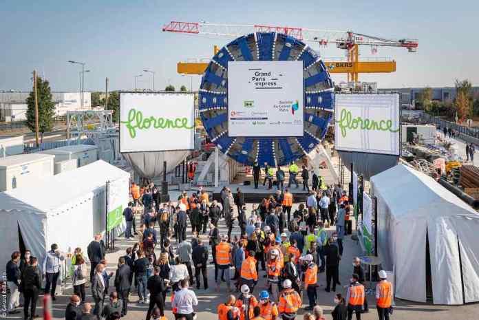 Bapteme du tunnelier Florence du Grand Paris Express