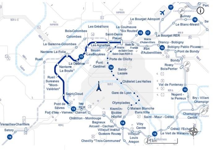 Plan Ligne 15 Ouest Grand Paris Express