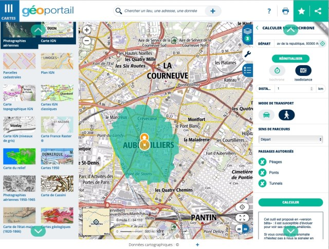 Cartographie Geoportail