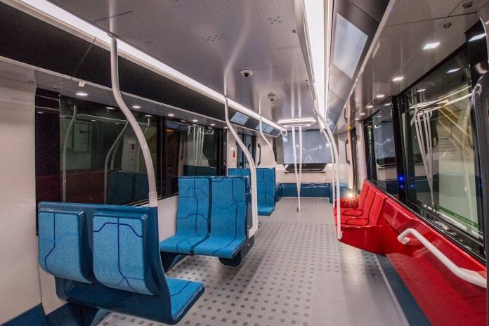 Intérieur rame du Grand Paris Express