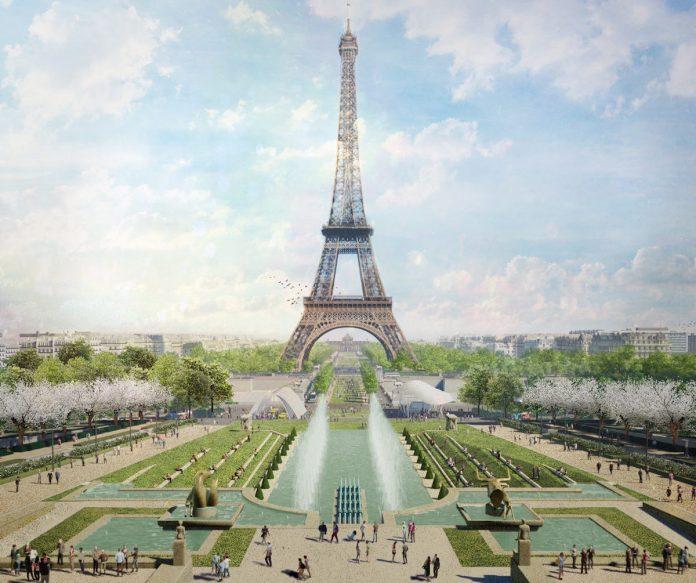 Fontaine-du-Trocadero-et-la-Tour-Projet-OnE-site-Tour-Eiffel-Paris-France-Copyright-GPB