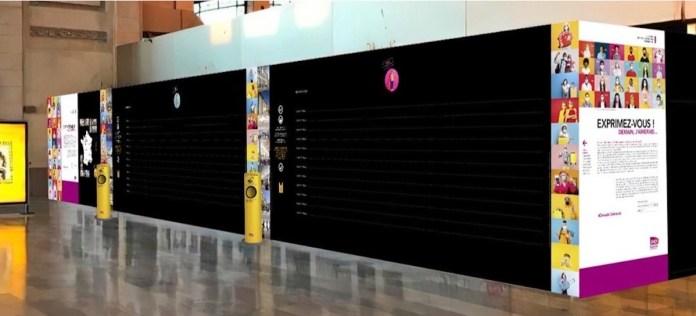 mur d'expression SNCF