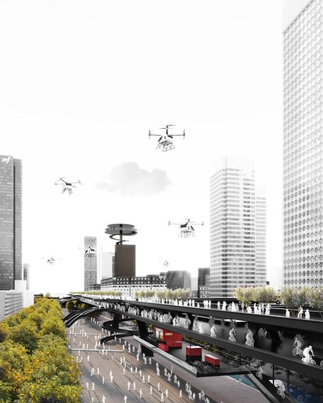 Le Chemin, concept Groupama Immobilier pour La Défense, projet Anne Demians